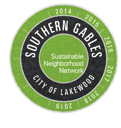 Sustainable Southern Gables Logo with Dates